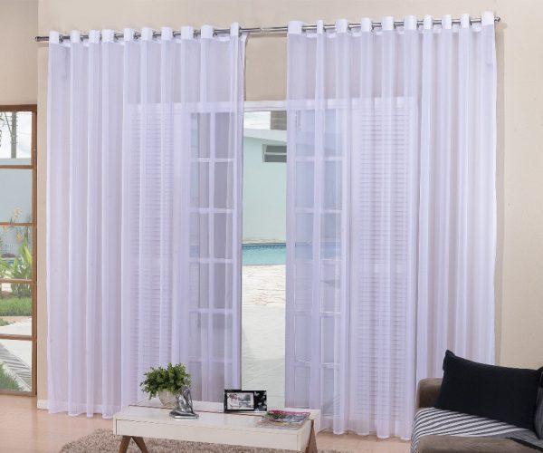 cortina voil para sala e quarto